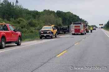 OPP charge three rubberneckers at Highway 69 accident