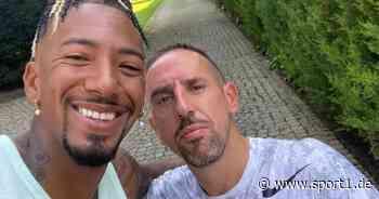 Ex-Bayern-Stars Jérôme Boateng und Franck Ribéry laufen gemeinsam in München - SPORT1