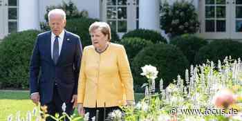 Nach Nord-Stream-Deal mit Merkel laufen die Republikaner gegen Biden Sturm - FOCUS Online