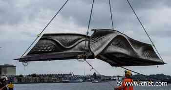 World's first 3D-printed steel bridge opens to pedestrians in Amsterdam     - CNET