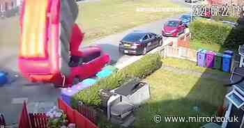 'Mini tornado' hits UK as bouncy castle ripped from ground and swept down street