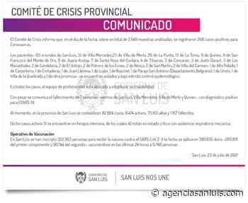 Este viernes se registraron 268 casos de Coronavirus - Agencia de Noticias San Luis