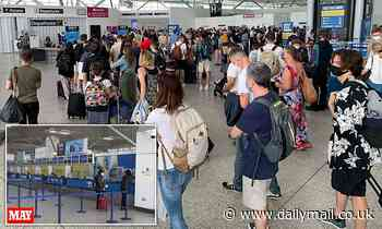 Thousands pack into departure lounges as they set off abroad on first weekend since Freedom Day