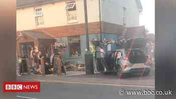 Pontyclun crash: Three in hospital after car hits people outside pub