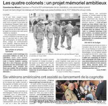 Un hommage aux paras de la 101e Airborne en projet à Carentan (Manche) - Ouest-France