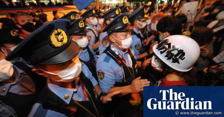'Stop the Olympics': hundreds protest outside Tokyo 2020 opening ceremony – video