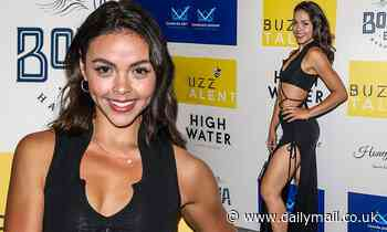 Dancing On Ice's Vanessa Bauer flaunts her sizzling figure in a racy cut-out dress