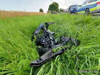 Unfall zwischen Herbrechtingen und Hausen: Motorradfahrer bei Zusammenstoß schwer verletzt - Heidenheimer Zeitung