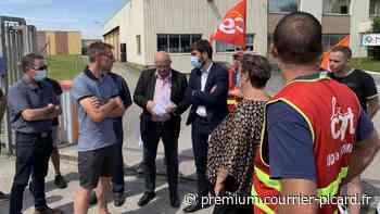 Des élus pour soutenir les grévistes de Novares à Villers-Bretonneux - Courrier picard