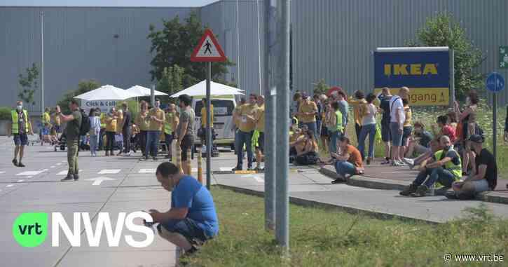 IKEA Wilrijk ontruimd na dreigbericht - VRT NWS