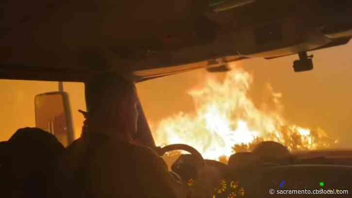 Heart-Stopping Video Shows Crews Inside Tamarack Fire Lines, Escaping An Intense Spot Fire
