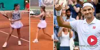 Roger Federer: Tochter Myla (12) eifert Papa nach! - Nau.ch