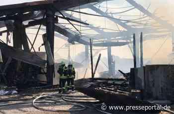 KFV Sigmaringen: Brand Ökonomiegebäude im Herbertinger Ortsteil Marbach - Presseportal.de