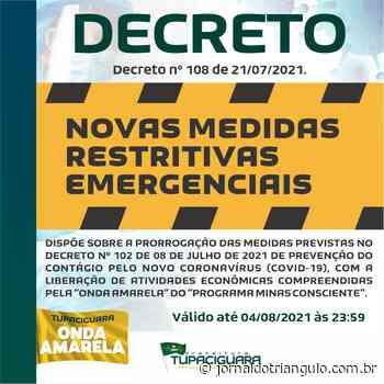 DECRETO nº 108 de 21/07/2021 - Tupaciguara/MG! - Jornal do Triângulo