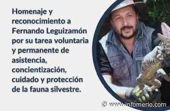 Homenaje y reconocimiento a Fernando Leguizamón, guarda ambiental de Villa de Merlo - Infomerlo.com