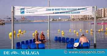 Málaga incorpora la primera zona de baño adaptada para uso de personas con movilidad reducida - El Español
