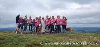 Twelve Pendle women walk to support Breast Cancer Care