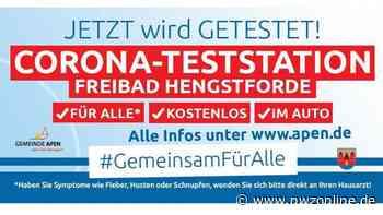 Pandemie in der Gemeinde Apen: Hengstforder Teststation öffnet an zwei Tagen - Nordwest-Zeitung