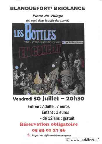 Les Bottles en concert Blanquefort-sur-Briolance vendredi 30 juillet 2021 - Unidivers