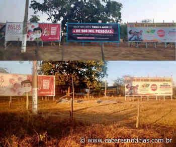Outdoor com mensagem contra governo Jair Bolsonaro é derrubado em Mirassol D'Oeste - Cáceres Noticias