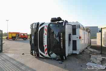 Beauvais : un camion se couche et fait deux blessés dans l'accident - actu.fr
