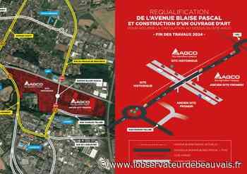 Beauvais / AGCO / Avenue Kennedy : le début des travaux du 3e rond-point commence le mardi 20 juillet - L'observateur de Beauvais