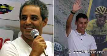 Juan Pablo Montoya y Egan Bernal se encontraron en Mónaco y lo registraron con foto icónica - infobae