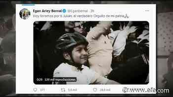 """""""Rueda muy alto, Julián"""", Bernal llora la muerte de niño ciclista en Colombia - EFE - Noticias"""