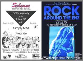 Vor 30 Jahren sorgten zahlreiche Bands in Bietigheim für eine kreative Szene: Festivals mit lokalen Bands - Bietigheimer Zeitung