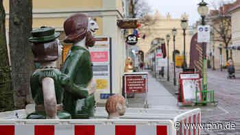 Potsdamer Skulpturengruppe schon wieder beschädigt: Frau Grün hat einen Arm verloren - Potsdam - Startseite - Potsdamer Neueste Nachrichten