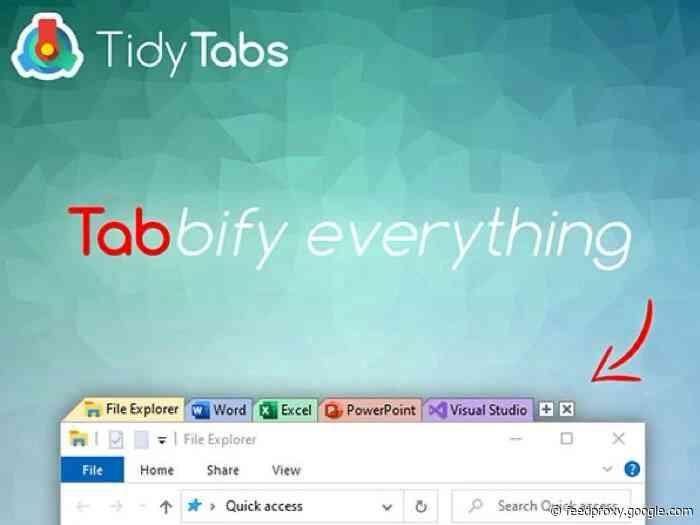 Deals Reminder: TidyTabs Windows Manager Professional Lifetime License