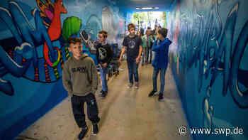 Graffitikunst in Eschenbach: Schüler sprühen Unterführung zum Aquarium - SWP
