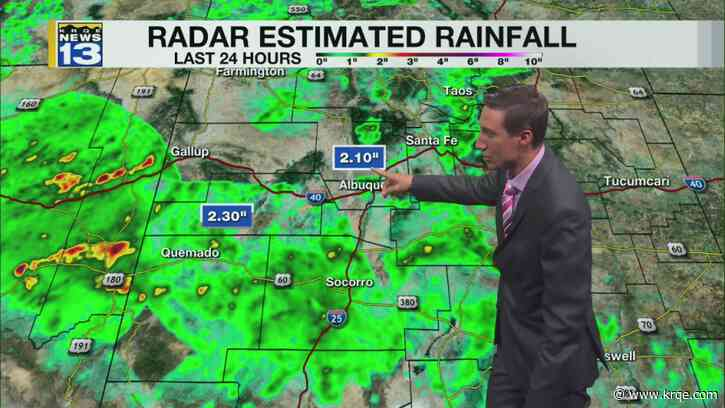 Scattered rain returns for western New Mexico