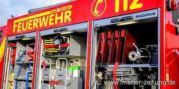 Feuerwehr an der Knappenstraße in Oer-Erkenschwick im Einsatz - Marler Zeitung