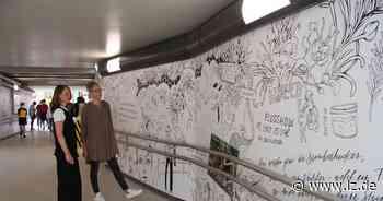 Wandmalerei ziert die Unterführung am Detmolder Bahnhof   Lokale Nachrichten aus Detmold - Lippische Landes-Zeitung