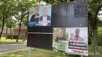 Korrekte Anbringung kontrollieren: Ärger um falsch hängende Wahlplakate in Edewecht - Nordwest-Zeitung