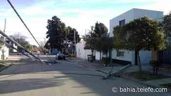 Cayeron dos postes en Villa Cerrito - Telefe Bahia Blanca