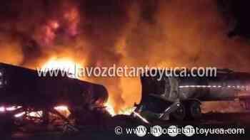 23/07/2021 Choque de tres trailers deja tres muertos - La Voz De Tantoyuca