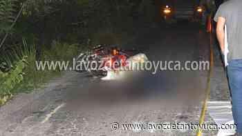 22/07/2021 Muere motociclista en trágico accidente, en Tantoyuca - La Voz De Tantoyuca