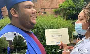 Proud mum Katie Price's shares sweet snap of her son Harvey, 19, graduating from school