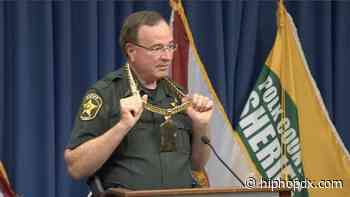 Florida Sheriff Stunts On Arrested Local Rappers With Their Gold Chain & Mocking Freestyle