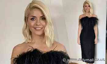 Holly Willoughby looks stunning in black strapless dress for game show Take Off with Bradley Walsh