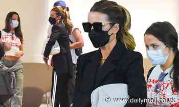 Kate Beckinsale and daughter Lily Sheen arrive at JFK Airport in New York City