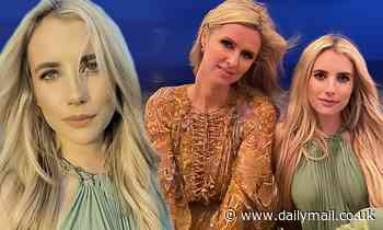 Emma Roberts stuns in a green dress with Naomi Watts and Nicky Hilton at the beach in The Hamptons