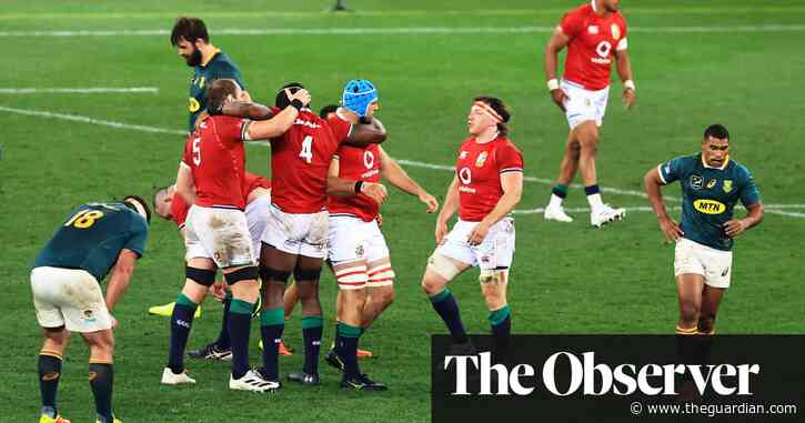 British & Irish Lions rally in second half to win first Test against South Africa