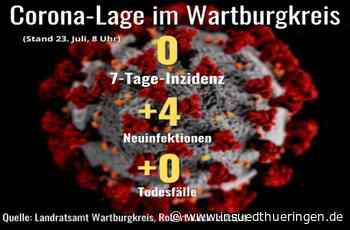 Corona-Lage im Wartburgkreis - Inzidenz 0, vier Neuinfektionen - inSüdthüringen
