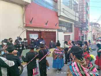 Tenientes gobernadores realizaron plantón en defensa de la frontera con Moquegua - Los Andes Perú