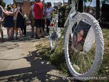 Ghost bike added for Montreal cyclist who died in 2012