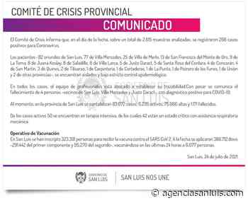 Este sábado se registraron 268 casos de Coronavirus - Agencia de Noticias San Luis