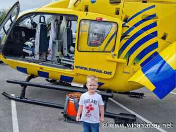 Wigan youngster enjoys amazing helicopter experience - Wigan Today